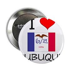 """I Love Dubuque Iowa 2.25"""" Button"""