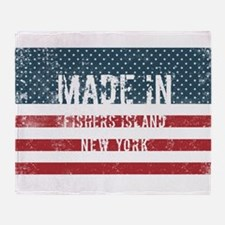 Made in Fishers Island, New York Throw Blanket