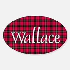 Tartan - Wallace Sticker (Oval)