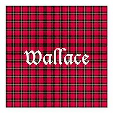 "Tartan - Wallace Square Car Magnet 3"" x 3"""