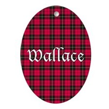 Tartan - Wallace Ornament (Oval)