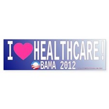I Love Healthcare ACA Obamacare heart Bumper Stick