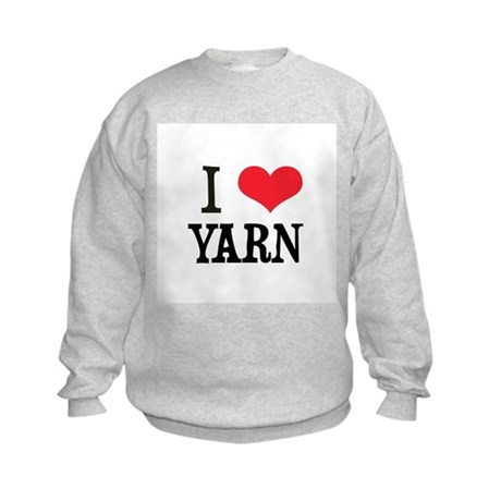 I Love Yarn Kids Sweatshirt