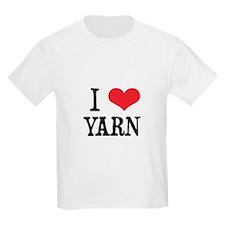 I Love Yarn Kids T-Shirt