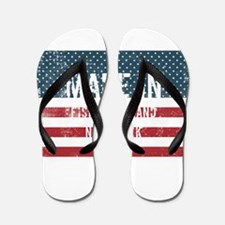 Made in Fishers Island, New York Flip Flops