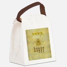 Don't worry be happy  Canvas Lunch Bag