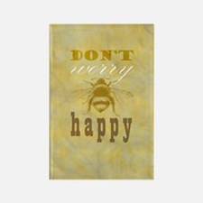 Don't worry be happy  Rectangle Magnet