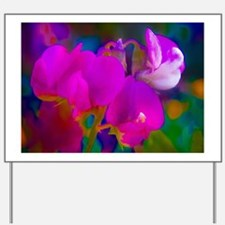 Brightly Colored Sweet Peas - Party Peas Yard Sign