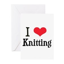 I Love Knitting Greeting Cards (Pk of 10)