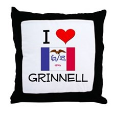 I Love Grinnell Iowa Throw Pillow