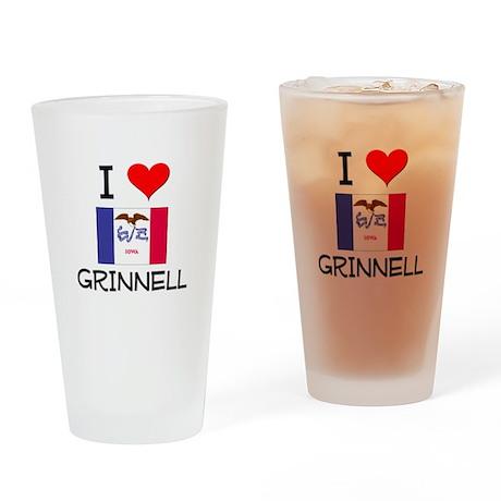 I Love Grinnell Iowa Drinking Glass