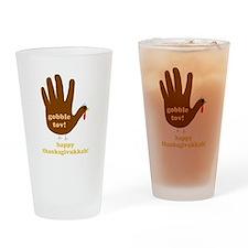 gobble tov! drinking glass
