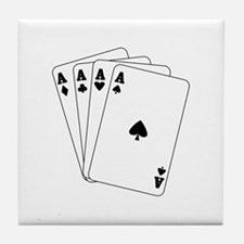 Aces Tile Coaster