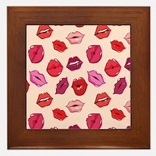 Kiss me Lips  Framed Tile