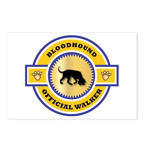 Bloodhound Walker Postcards (Package of 8)