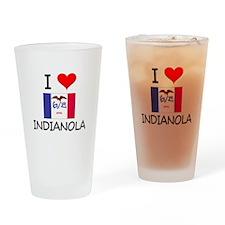 I Love Indianola Iowa Drinking Glass