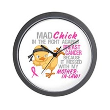 Mad Chick 3L Breast Cancer Wall Clock