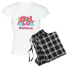 Personalized W Monogram Pajamas
