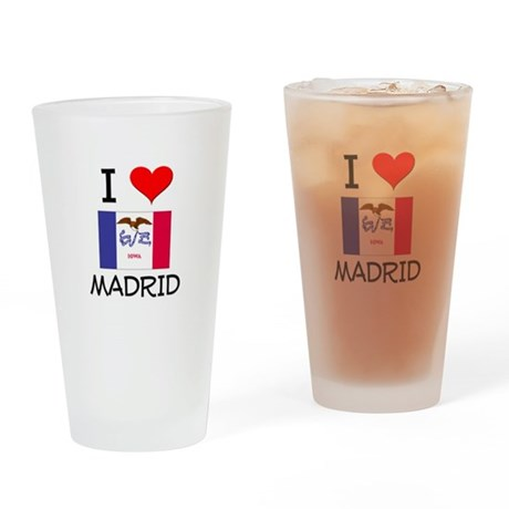I Love Madrid Iowa Drinking Glass
