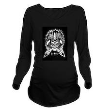 El-Peey Skull Long Sleeve Maternity T-Shirt