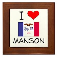I Love Manson Iowa Framed Tile