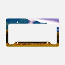 Cades Cove Horses License Plate Holder