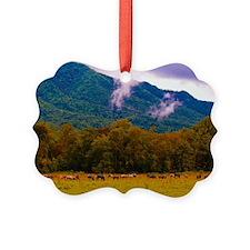 Cades Cove Horses Ornament