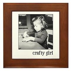 Crafty Girl Framed Tile