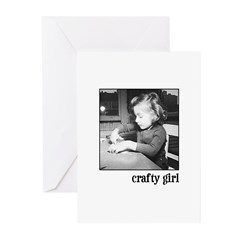 Crafty Girl Greeting Cards (Pk of 10)