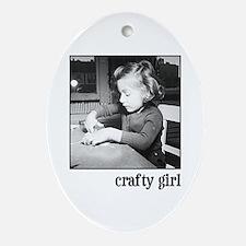 Crafty Girl Oval Ornament