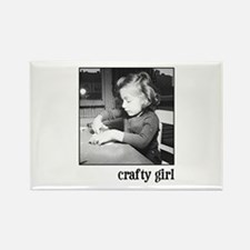 Crafty Girl Rectangle Magnet