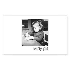 Crafty Girl Rectangle Decal