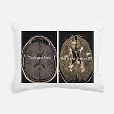 Brain on MS Rectangular Canvas Pillow