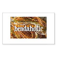 Beadaholic Rectangle Decal