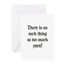 Too Much Yarn Greeting Cards (Pk of 10)
