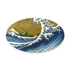 The Great Wave Oval Car Magnet