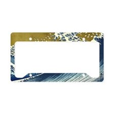 The Great Wave License Plate Holder