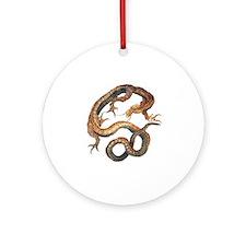 Japanese Dragon by Hokusai Round Ornament