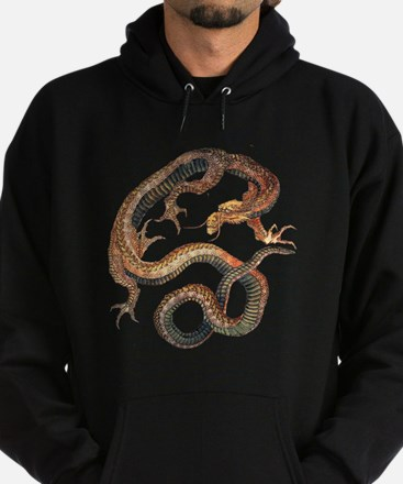 Japanese Dragon by Hokusai Hoodie (dark)