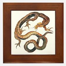Japanese Dragon by Hokusai Framed Tile