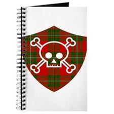 Mac Gregor Tartan Skull And Bones Shield Journal