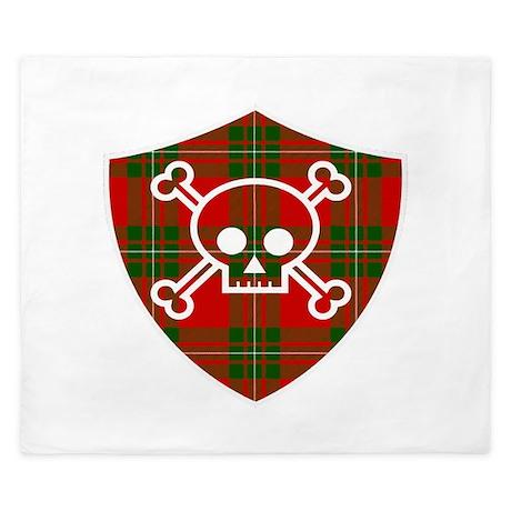 Mac Gregor Tartan Skull And Bones Shield King Duve By