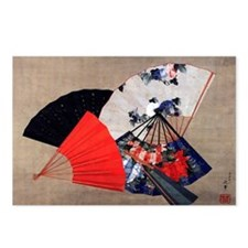 Five Fans by Hokusai Postcards (Package of 8)