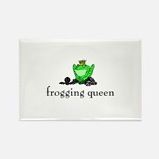 Yarn - Frogging Queen Rectangle Magnet
