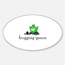 Yarn - Frogging Queen Oval Decal