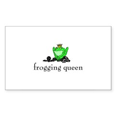 Yarn - Frogging Queen Rectangle Decal