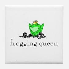 Yarn - Frogging Queen Tile Coaster