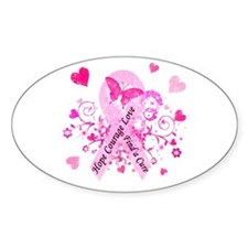 Pink Ribbon with Love Decal