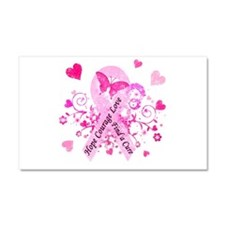 Pink Ribbon with Love Car Magnet 20 x 12