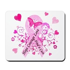 Pink Ribbon with Love Mousepad